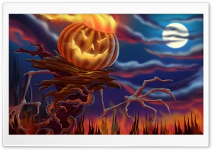 Pumpkin Monster HD Wide Wallpaper for Widescreen