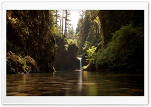 Punch Bowl Falls waterfall HD Wide Wallpaper for Widescreen