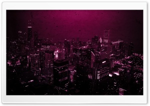 Purple City HD Wide Wallpaper for Widescreen