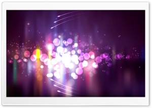 Purple Lights HD Wide Wallpaper for Widescreen