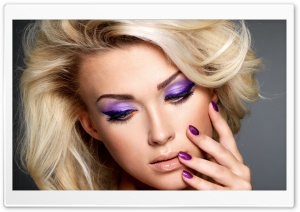 Purple Makeup HD Wide Wallpaper for Widescreen