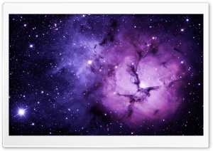 Purple Nebula HD Wide Wallpaper for Widescreen