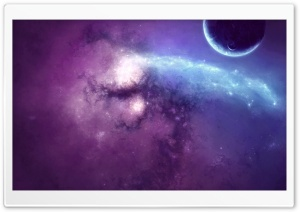 Purple Nebula Art HD Wide Wallpaper for Widescreen