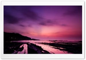 Purple Night Sky HD Wide Wallpaper for Widescreen