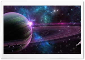 Purple Planet HD Wide Wallpaper for Widescreen