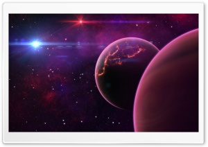 Purple Planets HD Wide Wallpaper for Widescreen