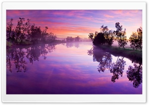 Purple River Reflection HD Wide Wallpaper for 4K UHD Widescreen desktop & smartphone