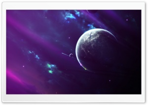 Purple Space Clouds HD Wide Wallpaper for Widescreen