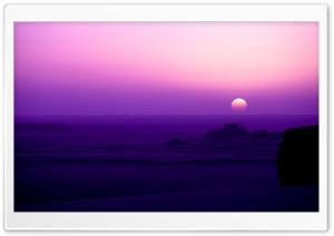Purple Sunrise HD Wide Wallpaper for Widescreen