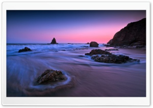 Purple Sunset Light HD Wide Wallpaper for Widescreen