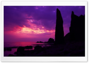 Purple Twilight HD Wide Wallpaper for Widescreen