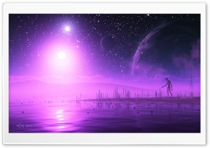 Purple Univers HD Wide Wallpaper for Widescreen