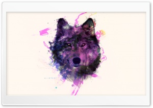 Purple Wolf HD Wide Wallpaper for Widescreen