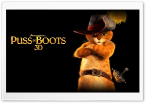 Puss In Boots 3D HD Wide Wallpaper for Widescreen