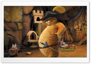 Puss, Shrek The Final Chapter HD Wide Wallpaper for Widescreen
