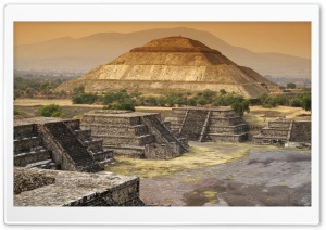 Pyramid Of The Sun, Teotihuacan, Mexico HD Wide Wallpaper for Widescreen