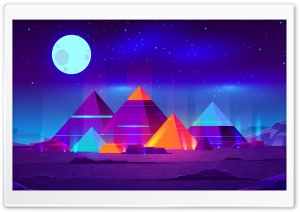 Pyramids Illustration HD Wide Wallpaper for 4K UHD Widescreen desktop & smartphone