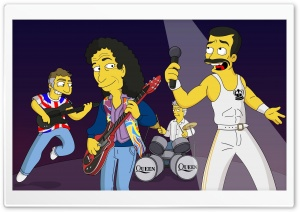 Queen Simpsons Cartoon HD Wide Wallpaper for Widescreen