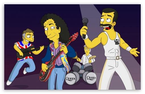 Queen Simpsons Cartoon HD wallpaper for Wide 16:10 5:3 Widescreen WHXGA WQXGA WUXGA WXGA WGA ; Mobile 5:3 16:9 - WGA WQHD QWXGA 1080p 900p 720p QHD nHD ;