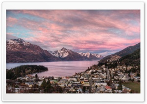 Queenstown At Dusk HD Wide Wallpaper for 4K UHD Widescreen desktop & smartphone