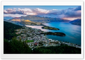 Queenstown from the Air HD Wide Wallpaper for 4K UHD Widescreen desktop & smartphone