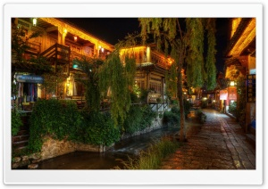 Quiet NIght at Lijiang, China HD Wide Wallpaper for 4K UHD Widescreen desktop & smartphone