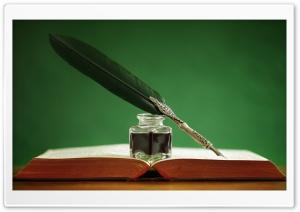 Quill Pen, Book HD Wide Wallpaper for 4K UHD Widescreen desktop & smartphone