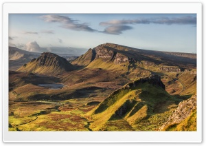 Quiraing Hill, Isle of Skye, Scotland HD Wide Wallpaper for 4K UHD Widescreen desktop & smartphone