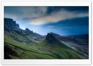 Quiraing Landslip in Scotland Ultra HD Wallpaper for 4K UHD Widescreen desktop, tablet & smartphone