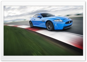 Racetrack   Blue Jaguar HD Wide Wallpaper for Widescreen