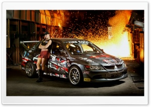 Racing Mitsubishi Car HD Wide Wallpaper for Widescreen