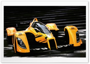 Racing Orange Car HD Wide Wallpaper for Widescreen