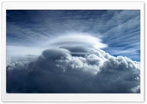 Radial Crown Cloud HD Wide Wallpaper for Widescreen