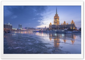 Radisson Royal Hotel, Moscow, Russia HD Wide Wallpaper for Widescreen