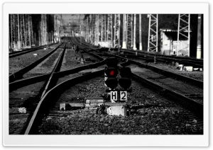 Rail Tracks HD Wide Wallpaper for Widescreen