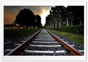 Railroad Track HD Wide Wallpaper for Widescreen