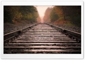 Railroad Tracks HD Wide Wallpaper for Widescreen