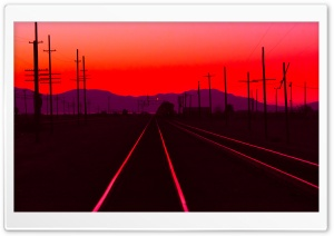 Railtracks at Dusk HD Wide Wallpaper for Widescreen