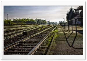 Railway Station HD Wide Wallpaper for Widescreen