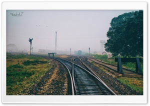 Railway Track HD Wide Wallpaper for Widescreen