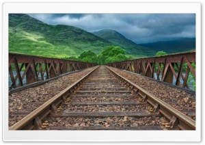 Railway track, Scotland Ultra HD Wallpaper for 4K UHD Widescreen desktop, tablet & smartphone