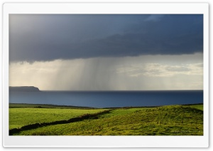 Rain at the Coast HD Wide Wallpaper for 4K UHD Widescreen desktop & smartphone