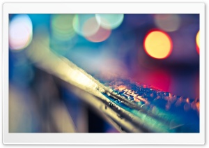 Rain Bokeh HD Wide Wallpaper for Widescreen
