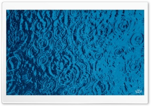Rain Drops In January Blue Filter HD Wide Wallpaper for Widescreen