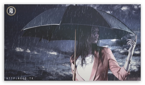 Rain Girl HD wallpaper for HD 16:9 High Definition WQHD QWXGA 1080p 900p 720p QHD nHD ; UHD 16:9 WQHD QWXGA 1080p 900p 720p QHD nHD ; Tablet 1:1 ; iPad 1/2/Mini ; Mobile 4:3 5:3 3:2 16:9 - UXGA XGA SVGA WGA DVGA HVGA HQVGA devices ( Apple PowerBook G4 iPhone 4 3G 3GS iPod Touch ) WQHD QWXGA 1080p 900p 720p QHD nHD ;