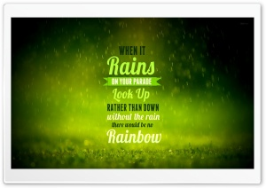 Rain Quote HD Wide Wallpaper for 4K UHD Widescreen desktop & smartphone
