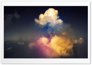 Rainbow Above Clouds HD Wide Wallpaper for Widescreen