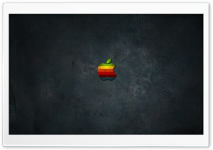 Rainbow Apple HD Wide Wallpaper for Widescreen