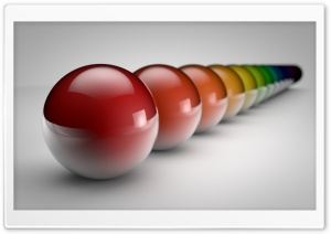 Rainbow Balls HD Wide Wallpaper for Widescreen