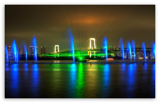 Rainbow Bridge Light Show in Tokyo ❤ 4K UHD Wallpaper for Wide 16:10 5:3 Widescreen WHXGA WQXGA WUXGA WXGA WGA ; 4K UHD 16:9 Ultra High Definition 2160p 1440p 1080p 900p 720p ; UHD 16:9 2160p 1440p 1080p 900p 720p ; Standard 4:3 5:4 3:2 Fullscreen UXGA XGA SVGA QSXGA SXGA DVGA HVGA HQVGA ( Apple PowerBook G4 iPhone 4 3G 3GS iPod Touch ) ; Tablet 1:1 ; iPad 1/2/Mini ; Mobile 4:3 5:3 3:2 16:9 5:4 - UXGA XGA SVGA WGA DVGA HVGA HQVGA ( Apple PowerBook G4 iPhone 4 3G 3GS iPod Touch ) 2160p 1440p 1080p 900p 720p QSXGA SXGA ;